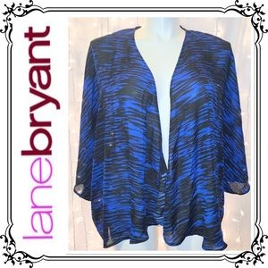 LANE BRYANT * Black & Blue Kimono Cover Up * 18/20